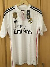 Firmado Manuel Alonso Real Madrid campeones del mundo FIFA 2014 Camisa. firma privada.