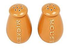 Disney Mickey Mouse Salt & Pepper shaker set Orange  NEW