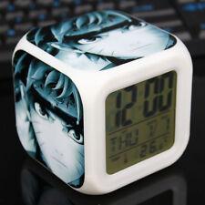 Anime Naruto Glowing LED Digital Alarm Clock 7 Color Change Thermometer Calendar