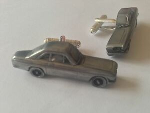 Reliant Scimitar GT Coupe classic car pewter effect cufflinks ref199