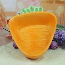 Carrot Shaped Ceramic Dish Plate Dessert Plate Fruit Salad Bowl for Kids