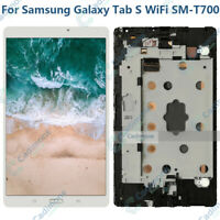 8.4' For Samsung GALAXY Tab S WiFi SM-T700 LCD Touch Screen Assembly Frame White
