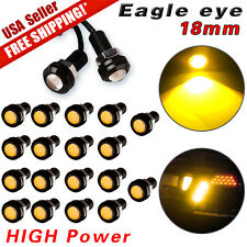 20X Yellow Eagle Eye 18mm Motor Car 9W COB LED Daytime Running DRL Backup Lights