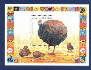 NAMIBIA - Scott 875 - FVF MNH S/S - Christmas, Bird - 1997