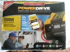 POWERDRIVE PD1000 1000 WATT POWER INVERTER WITH 4 AC 2 USB APP WITH BLUETOOTH