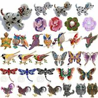 Charm Women Crystal Rhinestone Animal Flower Butterfly Brooch Pin Wedding Party