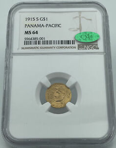 1915-S Panama-Pacific Gold Dollar NGC & CAC MS64