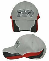 Grey Red & White Cotton TVR Logo Baseball Cap Official Merchandise Car Classic