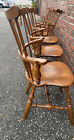 7  Vintage ETHAN ALLEN Nutmug Comb back  Farm House Dining CHAIRS 10-6090