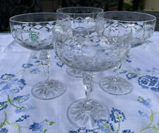 "Irish Galway Aran Saucers Champagne Stemware 24% Lead Crystal  5 3/4"""
