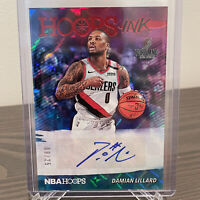 2019-20 NBA Hoops Damian Lillard Hoops Ink RED Parallel Auto Autograph SSP /25