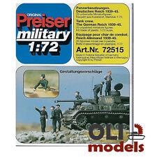 1/72 WW2 German Reich TANK CREW 1939-1945 (20) Figures Set - Preiser 72515