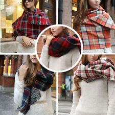 Châles/écharpe en 100% cachemire avec des motifs Écossais et carreaux pour femme