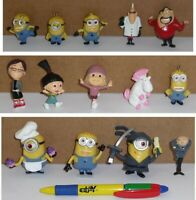 Set 14 Figura 5cm Personajes Dibujos Animados Animación Minions