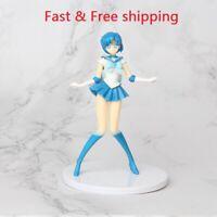 Anime Action Figure Cake Topper Sailor Moon Mercury Ami Mizuno Kid Toys Figurine