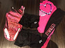 Gk Elite Child Medium Cm Leotard Gymnastics Pink Black