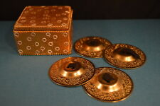 Beautiful Brass INDIA CASTANETS  Great Tone!  Excellent   USA SELLER!  Box! gift