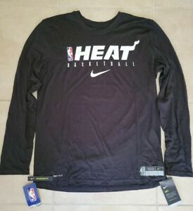 New Nike NBA Miami Heat Performance Shooting Shirt Men's Large NWT