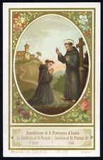 santino-holy card- lit.s.giusep.modena S.FRANCESCO D'ASSISI