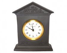 Wedgwood Clock - Black Basalt Jasperware Mantle Clock - Swiss Movemnet Boxed