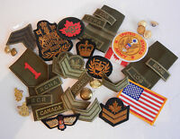 MIXED LOT OF X 50 (FIFTY) CANADIAN AND U.S. MILITARY BADGES