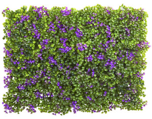 """Purple Green Clover Mat Artificial Home Decoration Nearly Natural 6x6"""" Set of 12"""