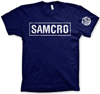Official Sons of Anarchy SAMCRO Banner Dark Navy Men's T-Shirt