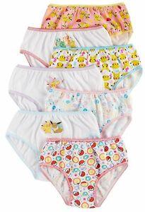 Pokemon Girls Panties Underwear 7 pack Sizes 4, 6, 8
