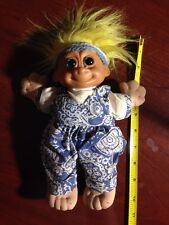Troll With Headband And Overalls Stuffed 10 Inch Doll