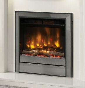 "ELECTRIC INSET FIRE MODERN LED REMOTE ELGIN & HALL PRYZM 22"" CHOLLERTON TRIM 2kW"