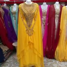 Oferta Marroquí Amarillo Dubái Caftanes Abaya Vestido Muy Elegante Largo Ms 1999