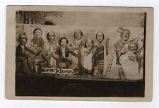 CARTE PHOTO Décor Toile peinte Postcard RPPC Heup Met De Beentjes Drôle Funny