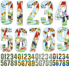 "7"" WHEELIE BIN HOUSE NUMBERS WHEELY STICKERS SELF ADHESIVE STICKY STICKER NUMBER"