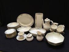 NWOB Royal Doulton Juliet Collection 82 piece Bone China #H5077 Gold/Floral 12 p
