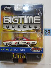 JADA DUB CITY  BIG TIME MUSCLE - '69 DODGE DART GTS  CLTR 085 W+
