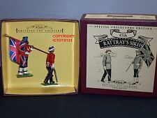 Britains 8836 45th Rattrays Sikhs Officer Standard Bearer Toy Soldier Figure Set
