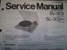 TECHNICS SL-303 SL-303K giradischi Servizio Manuale diagramma di cablaggio parti