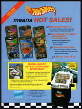 Mattel HOT WHEELS__Original 1992 Trade Print AD promo__Michael Andretti__advert