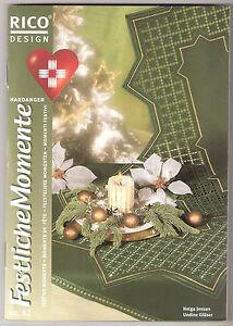 Rico-Stickheft 62 Hardanger Weihnachten, Mitteldecke Art.13166.50.21 natur *NEU*