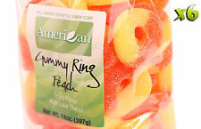 84oz Gourmet Style Bags of Chewy Peach Gummy Rings [5 1/4 lbs.]