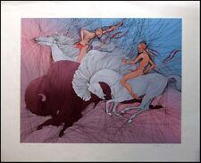 "Azoulay ""Twilight"" Hand Signed Fine Art Serigraph horse HAND SIGNED RARE OBO"