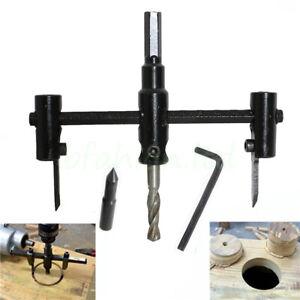 Adjustable Hole Saw Circle Cutter Round Drill Bit Wood Plastic Speaker 30-120mm