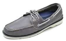 SPERRY TOP SIDER LEEWARD MEN'S 2-EYE GREY BOAT SHOES LEATHER STS10844 SZ 7.5 M