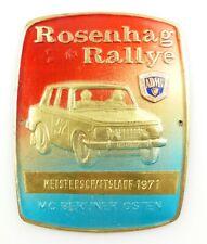 Wartburg 353 Rallye 1982 Eisenach DDR ADMV Plakette Emblem NEU /& SELTEN
