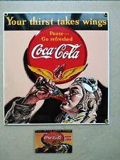 Emailleschild Coca Cola 26 x 24cm