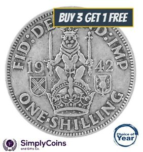 1937 TO 1951 - GEORGE VI ENGLISH & SCOTTISH SILVER SHILLING - CHOICE OF YEAR