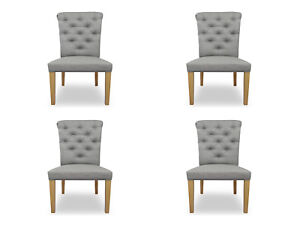 4x Chairs Chair Pads Design Lounge Seat Lehn Set Armchair Chesterfield New