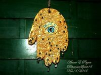Arturo E.Reyna ~PEACE~ HAMSAH Against Evil Eye WALL HANGING ONE OF A KIND PLAQUE