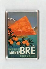 Vintage Travel Poster Fridge Magnet - Mont Bre. Lugano Switzerland