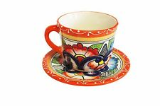 Mexican Talavera Cup and saucer Ceramic, Pottery, Handmade
